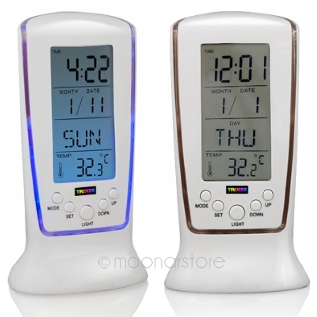 Top Quality Lntelligent Home Furnishing Digital LED Backlight LCD Display Table Alarm Clock Thermometer Calendar