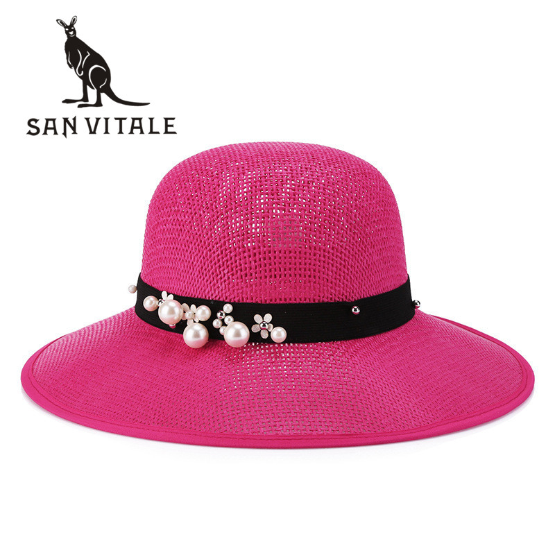 Summer Hats For Women Sun Hat Top Quality Caps Sinamay -2985