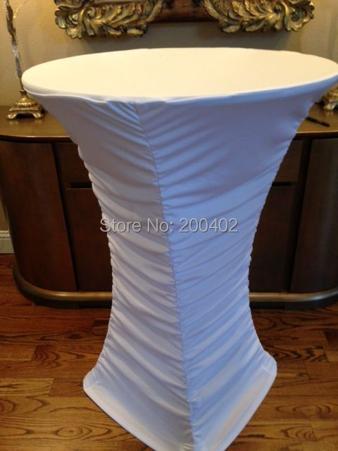 white ruffled cocktail table <font><b>cover</b></font> /lycra <font><b>chair</b></font> <font><b>cover</b></font>/spandex <font><b>chair</b></font> <font><b>cover</b></font>