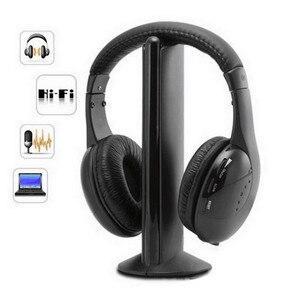 Image 1 - Auriculares MH2001 5 en 1, auriculares inalámbricos de alta fidelidad, TV/ordenador, Radio FM, auriculares con micrófono de alta calidad