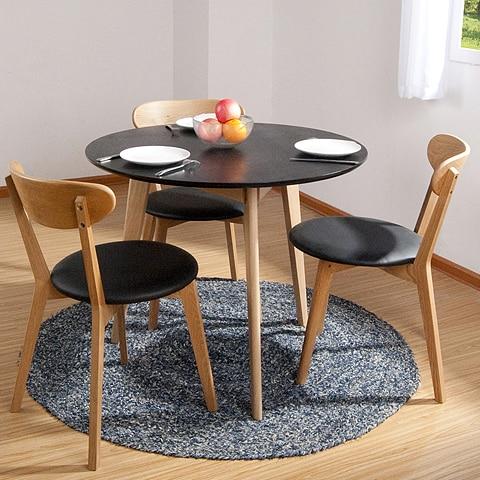 tienda online el pequeo tamao de los pases nrdicos roble blanco de madera slida mesa de comedor mesa de comedor ikea moderno minimalista redondas with mesas