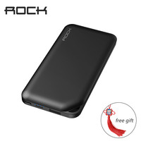ROCK Slim Power Bank 10000mAh Universal Powerbank For Xiaomi Portable External Battery Charger For Iphone 6