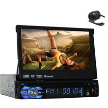 "Free Rear Camera+Latest Design Panel Detachable 7"" single din Car DVD Player GPS Navigation in dash car styling Car Stereo"