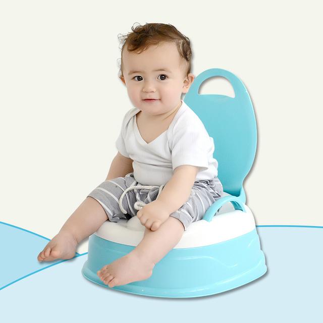 Venta caliente Niños Taburete Higiénico Inodoro Orinal Bebé Urinario Orinal Multifuncional Asiento Infantil Para Niños Aseo Pedestal pan