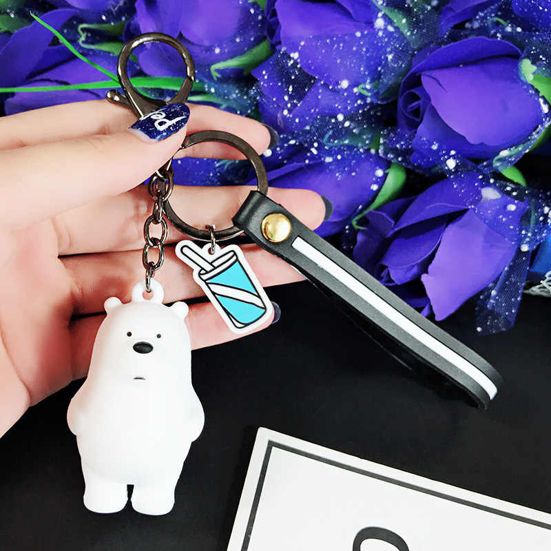 2019 Ursos Bonitos Três Ursos Animais Dos Desenhos Animados Anime Nós Nua Boneca Chaveiros Saco Cinto Pingente Trinkets Chaveiro Carro Das Mulheres porte Cle
