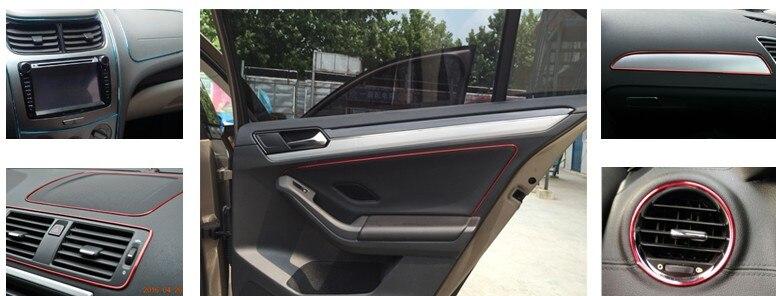 car interior decoration trim strip stickers for mercedes w204 benz w205 w211 cadillac ats srx. Black Bedroom Furniture Sets. Home Design Ideas