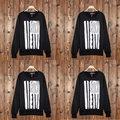 2016 Autumn famous mens fashion music rock Logo Letter Print Round Sweatshirt man Clothes full sleeve trasher