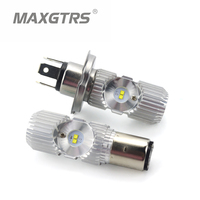H4 BA20D Motorcycle LED Headlight 1400LM High Low Beam Universal Motorbike Bulb Headlamp For Ducati KTM