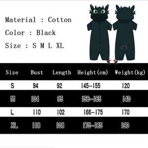 Image 5 - アニメあなたのドラゴン 3 コスプレ衣装歯のないパジャマジャンプスーツ夏毎日カジュアル綿スーツ