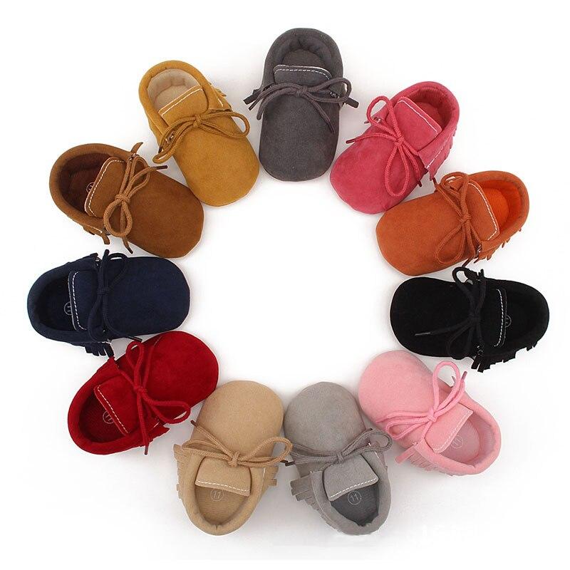 Newborn Soft Baby Boy Girl Shoes Scrub Matte Bebe Anti-slip Tassel Footwear Crib Shoes First Walker Infant Toddler Baby Shoes