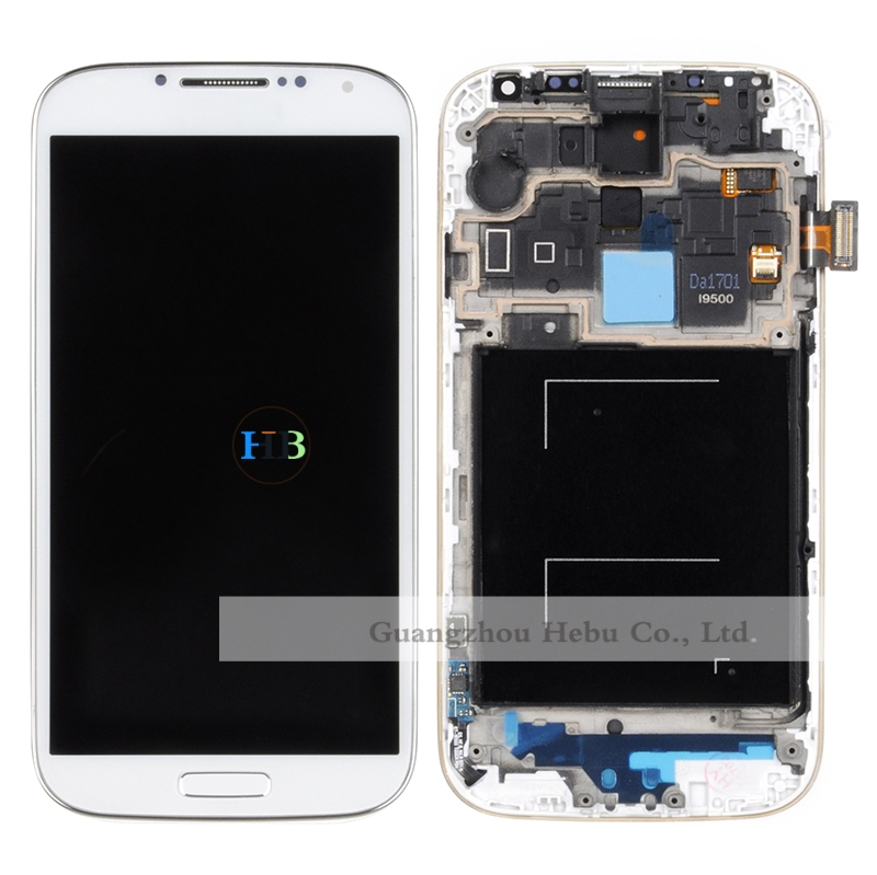 Brand New Lcd Display  With Touch Screen Digitizer Assembly+Frame For Samsung Galaxy S4 I9500 I9505 Free Shipping DHL 10Pcs brand new lcd for samsung galaxy a3 a3000 a300 a300x a300f screen display with touch digitizer assembly