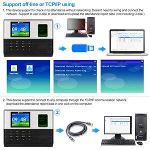 Image 5 - Tcp/Ip/Wifi 2.8Inch Biometrische Vingerafdruk Tijdregistratie Machine Rfid kaart Vingerafdruk Prikklok Systeem, Ondersteuning Batterij