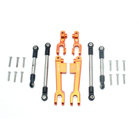 1 Set Aluminum Front + Rear Sway Bar + Stainless Steel Linkage Set for TRAXXAS Unlimited Desert Racer UDR RC Car Part