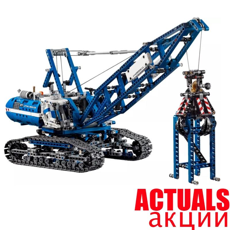 LEPIN 20010 1401Pcs Technic Series Crawler Crane Model Building Blocks Bricks Toys for children Gifts compatible 42042 brinquedo ювелирное изделие 20010