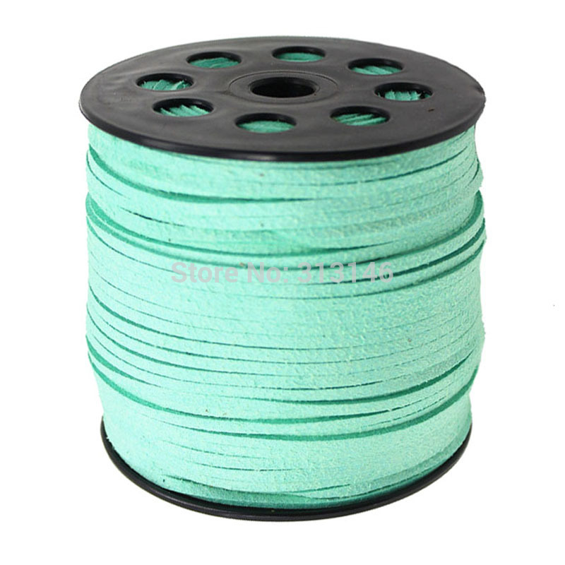 Faux Leather Suede Cord 3mm Flat Lace String 90 meters