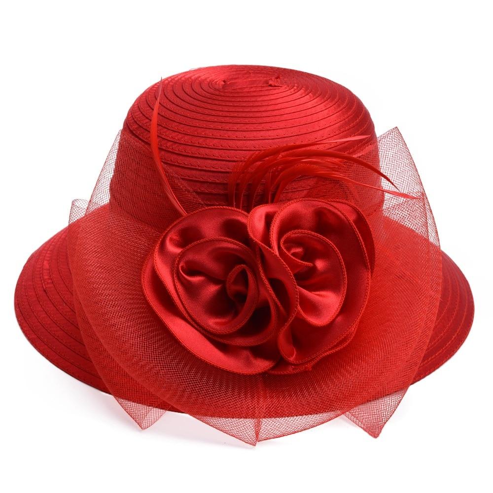 Wedding Dress Preservation Uv Protected: Aliexpress.com : Buy Women Summer Hat Feather Satin Veil