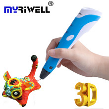 Myriwell 3D Pen 1st Generation 3D Drawing Printing Pens 3d Magic Pen With 200m ABS Filament 1.75mm Best Gift for Kids Tools Gift цена 2017