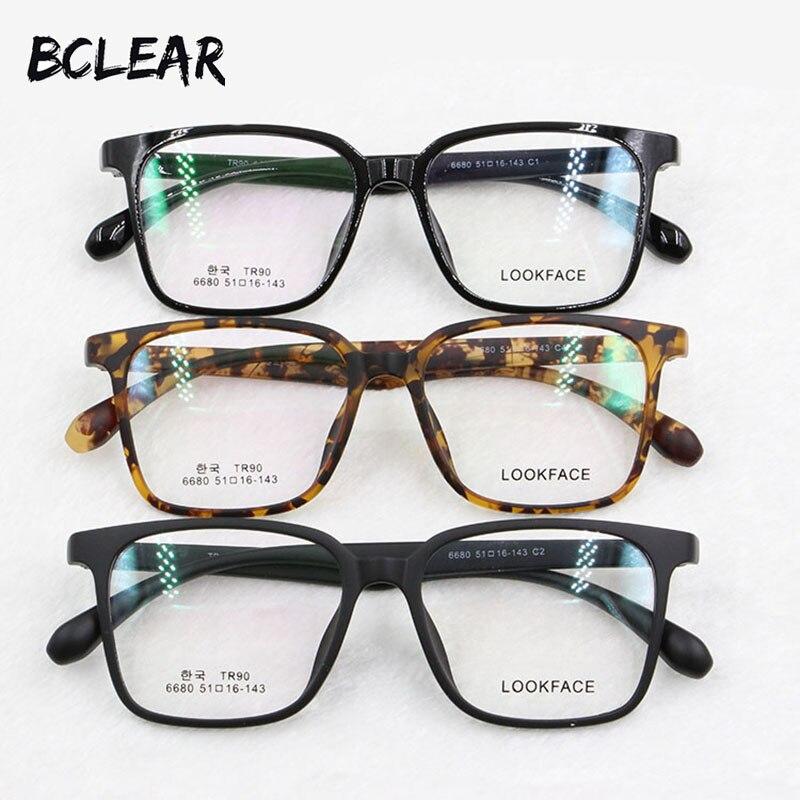 BCLEAR Moda TR90 quadro grande Coreia Do projeto do frame ótico óculos  super leves para homens e mulheres óculos de armação do vintage populares 96b4d00eb7