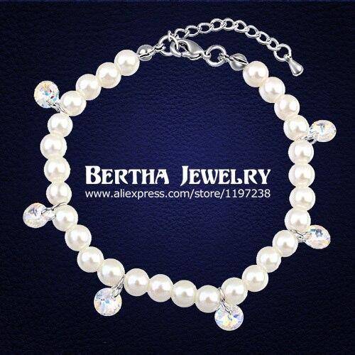 57d71133750c € 10.84 |Nueva pulsera de cuentas de perlas simuladas para mujer cristales  de mujer de joyería de Swarovski Pulseras Bracciale regalo en Pulseras ...