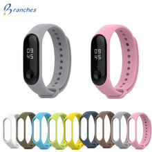 Mi Band 3 Strap Silicone Bracelet for Xiaomi Mi Band 3 black Red Wristband Smart Band Accessories wrist Strap and for Mi Band3