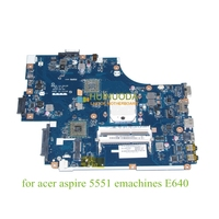 NEW75 LA 5912P MBNA102001 MB.NA102.001 Laptop motherboard For acer aspire 5551 emachines E640 DDR3 HD4200 free cpu Mainboard