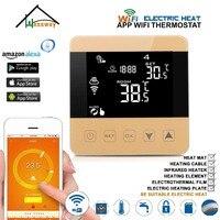 16a duplo sensor controlador de temperatura quarto termostato de aquecimento wifi para piso aquecimento cabo esteira/filme/folha/radiação infravermelha|Instrumentos de temperatura| |  -