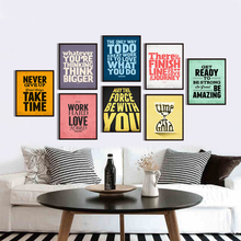 Simple And Diverse English Phrase Life Inspirational Canvas Digital Painting Print Poster Picture Murals Bedroom Home Decoration