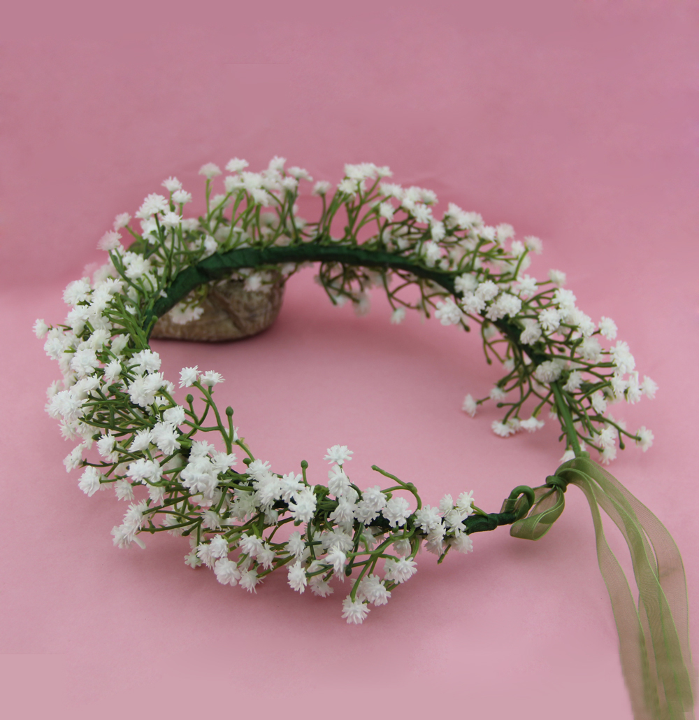 Susies Gypsophila Babys Breath Crown Babys Breath Flower Girl