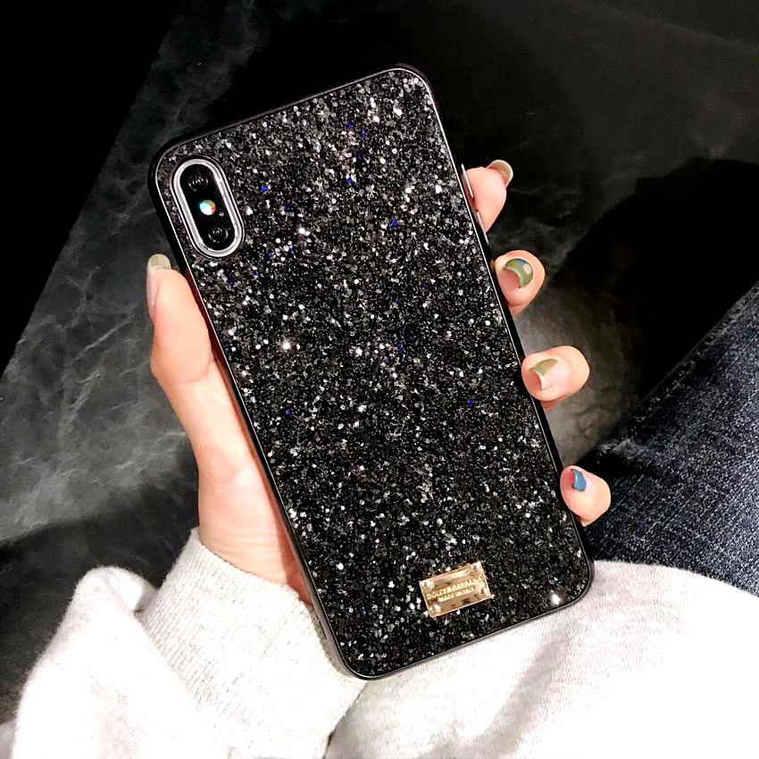 Luxury brand Bling Case For iphone 8 Plus 6s iphone X XS Max XR XS 10 Glitter 7plus Coque Cover For iphone 7 Plus  6 s Plus Case (3)