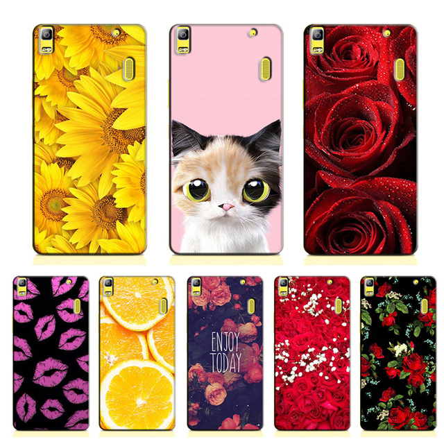 superior quality 61275 49eac US $4.98 |for Lenovo A7000 A 7000 Case Coloured Flower Animal Hard PC  Protective Back Cover Case for Lenovo K3 Note Phone Cases Fundas-in  Half-wrapped ...