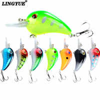 1pc small fat crank fishing lures 5.5cm/5.8g bass killer hard bait 8 colors available crankbaits wobblers