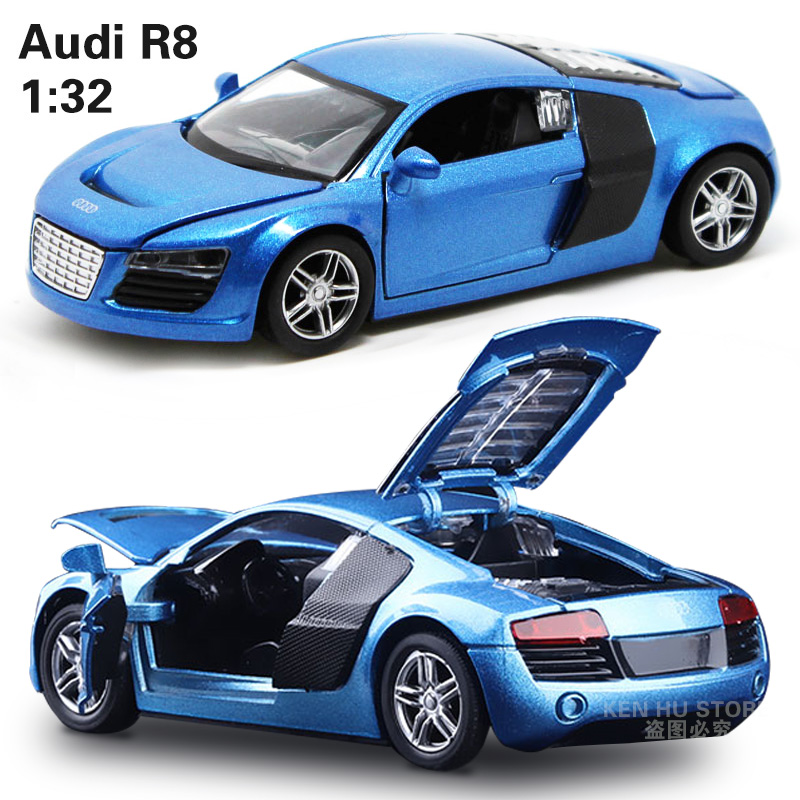 1:32 Kids Toys AD R8 Metal Toy Cars Model For Children