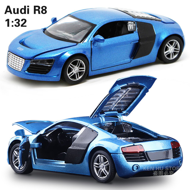 132 kids toys ad r8 metal toy cars model for children music sound pull