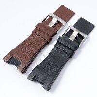 Genuine Calf Hide Leather For Men S Quartz Watch Belt 32MM Watch Band For Diesel DZ1216
