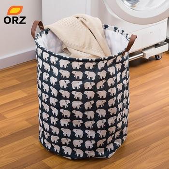 ae6afe08e Tela de Oxford de baño plegable cesta de la lavandería poner ropa sucia cesta  de almacenamiento de ropa acabado cesta wx10201404