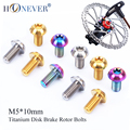 12pcs M5x10mm Disk Brake Rotor Bolts T25 Torx Titanium Bicycle Parts Titanium Mountain Bike Ultralight Brake Rotor Screw