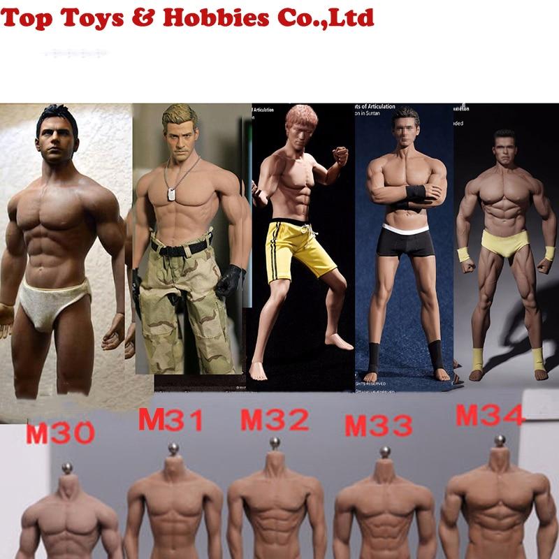 1:6 Steel Stainless Skeleton Body TBLeague M30 M31 M32 M33 M34 M35 1/6 Super Flexible Seamless Male Doll Body Suntan Man Body