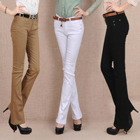 Women's autumn Straight trousers trousers Slim was thin flared pants high waist stretch casual pants OL Women's trousers