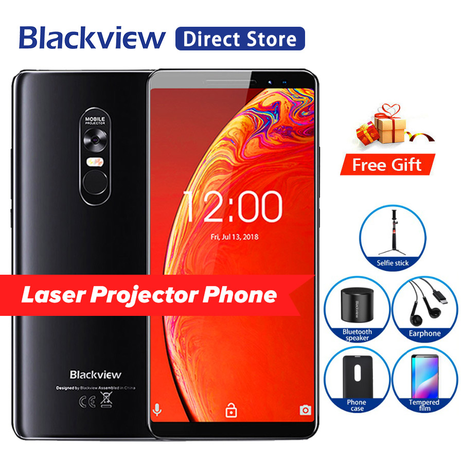 Blackview MAX 1 projector phone 6.01 inch 6GB 64GB 4680mAh Android 8.1 NFC Mini Projector Portable Home Theater 18:9 Smartphone-in Cellphones from Cellphones & Telecommunications    1