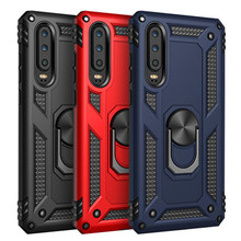 Luxury Armor Bumper Shockproof Phone Case For Huawei P30 Pro Silicone Rugged Magnet Lite