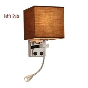 Image 3 - LED Kumaş Başucu Duvar Lambası Anahtarı ve Esnek Okuma Lambası Başlık Lambası Otel Odası Başucu Okuma Duvar Lambası NR51