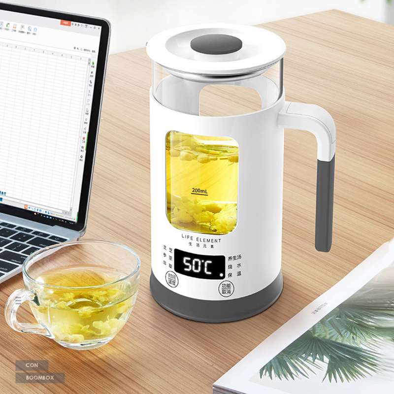 600ML Mini Multi-function Electric Kettle Health Preserving Pot Glass Boiled Tea Pot Hot Water bottle Warm Kettle 220V