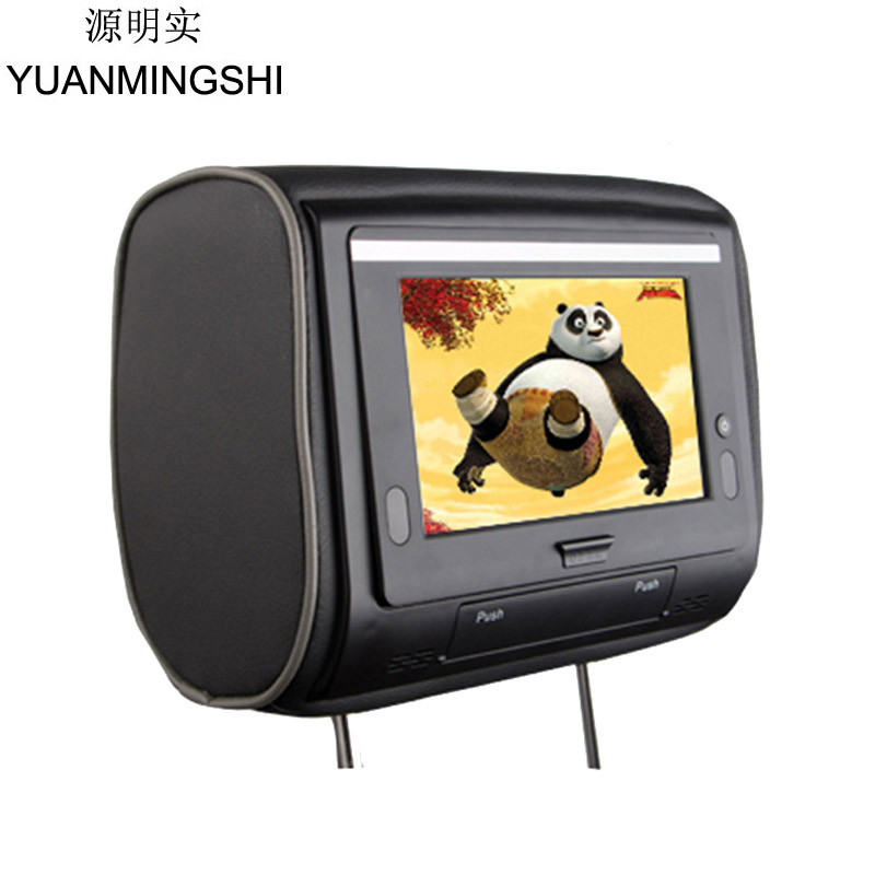 YUANMINGSHI 7 Inch Car Headrest Pillow DVD Player Zipper Car Monitor Digital TFT Screen Headrest DVD Player FM USB