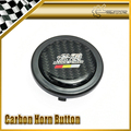 For Honda Mugen Carbon Sticker Steering Wheel Push Horn Button Car-styling