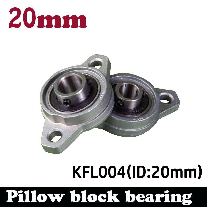 4pcs KFL004 20mm pillow block bearing zinc alloy insert linear bearing shaft support CNC part high quality kfl004 pillow block flange ball bearing 20mm metal miniature bearing zinc alloy mechanical industry