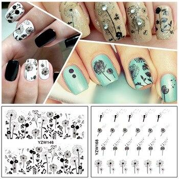 2 Patterns/Sheet Flying Dandelion Nail Art Water Decals Transfer Sticker YZW146&168