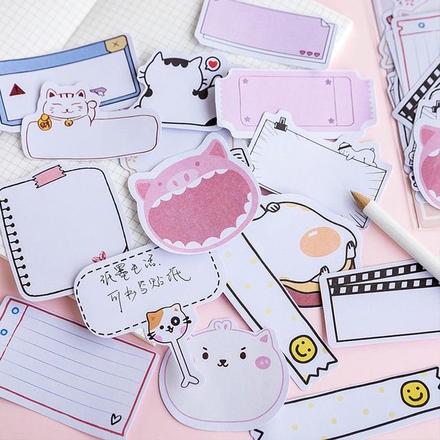45 pièces/pack animaux Vintage Kawaii papier autocollants journal décoration bricolage Scrapbooking étiquette joint autocollant papeterie