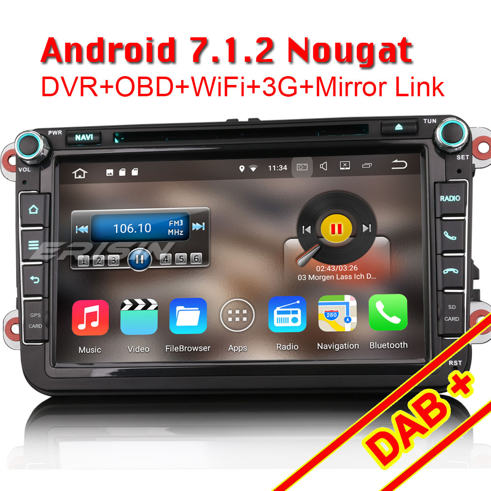 "Aliexpress.com : Buy Erisin ES4745V 8"" Android 7.1 Car GPS"