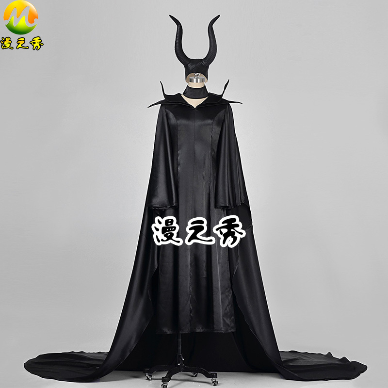 2017 New Maleficent Movie Cosplay dress For Women Cosplay Costumes Halloween Party Dresses Maleficent Costumes