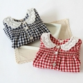 Free shipping,springtime,Hot sale clothes children clothing ,girl clothing,lace coat,Korean,t shirt,Tees,Casual,Plaid,Kids wear